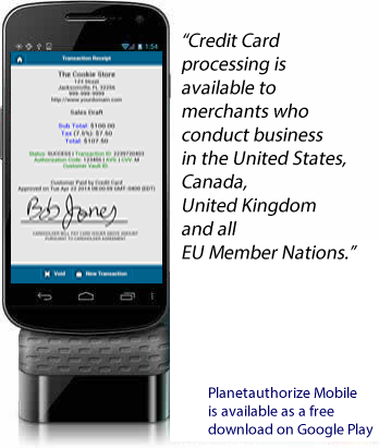 android payment application planetauthorize